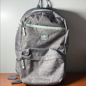 Adidas heather gray/mint green backpack